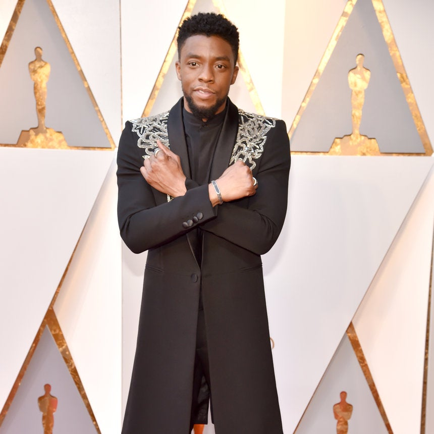 "It's Still ""Wakanda Forever"" For Chadwick Boseman, Even If He Looks Tired Of Doing The Salute"