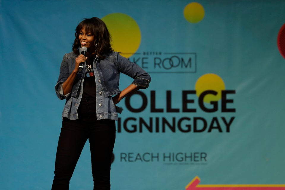 This Video Of Michelle Obama Dancing With Jussie Smollett At College Signing Day Is The Break You Need From The News