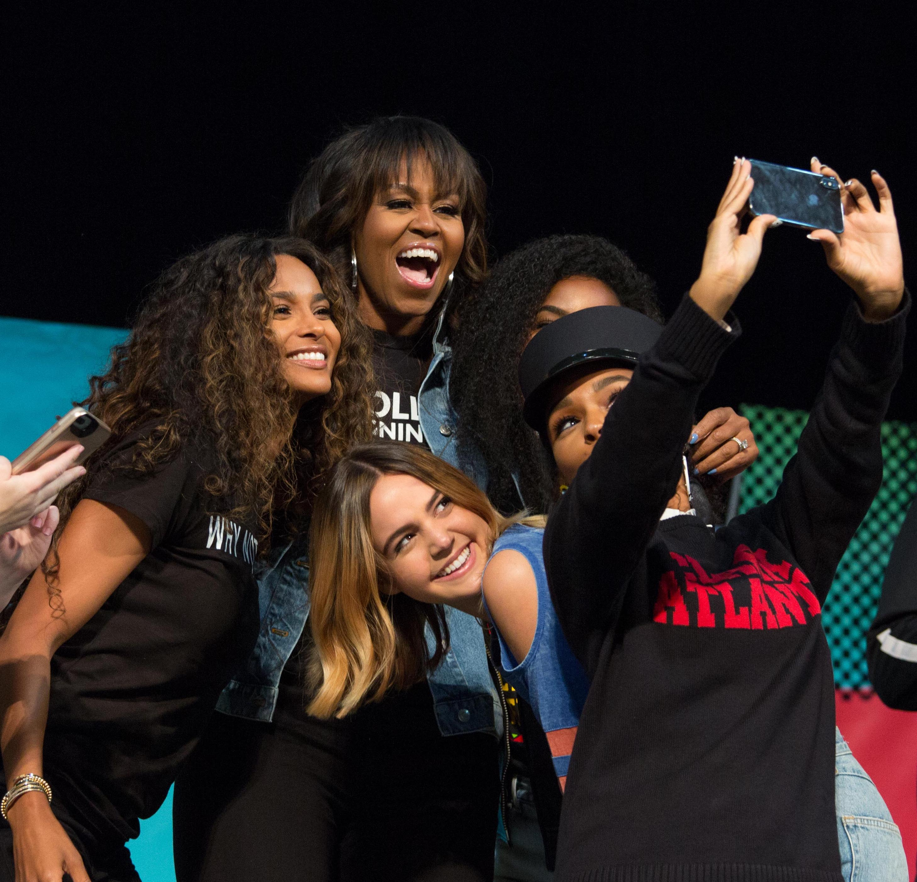 Michelle Obama Celebrates College-Bound Students In Star-Studded College Signing Day 2018