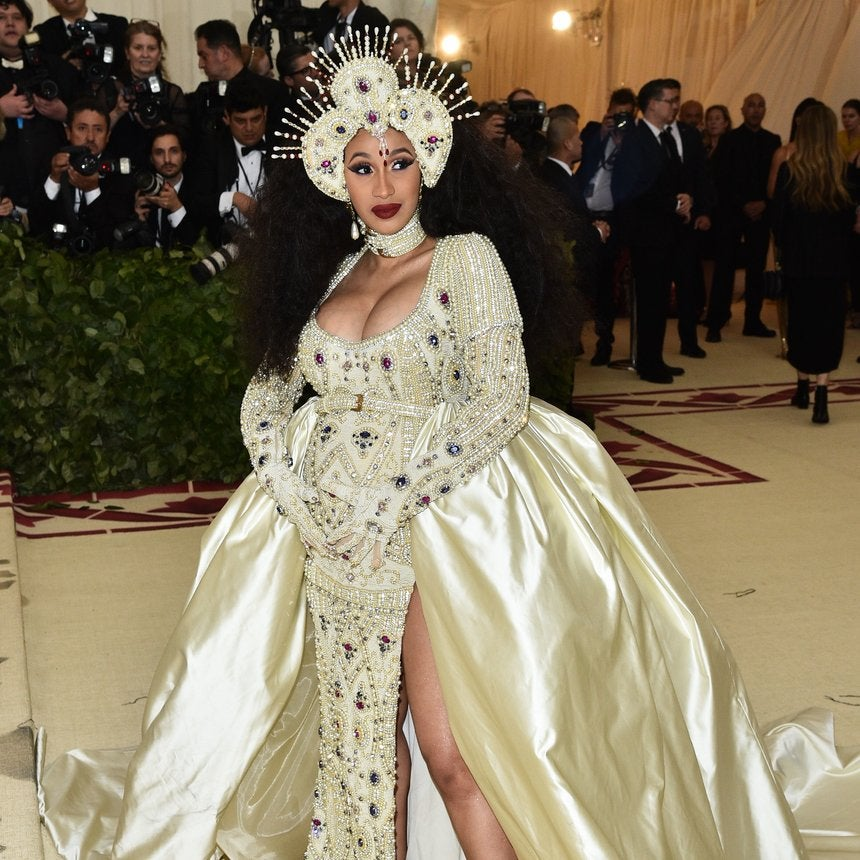 Cardi B's First Met Gala Appearance Was An Angelic Showstopper