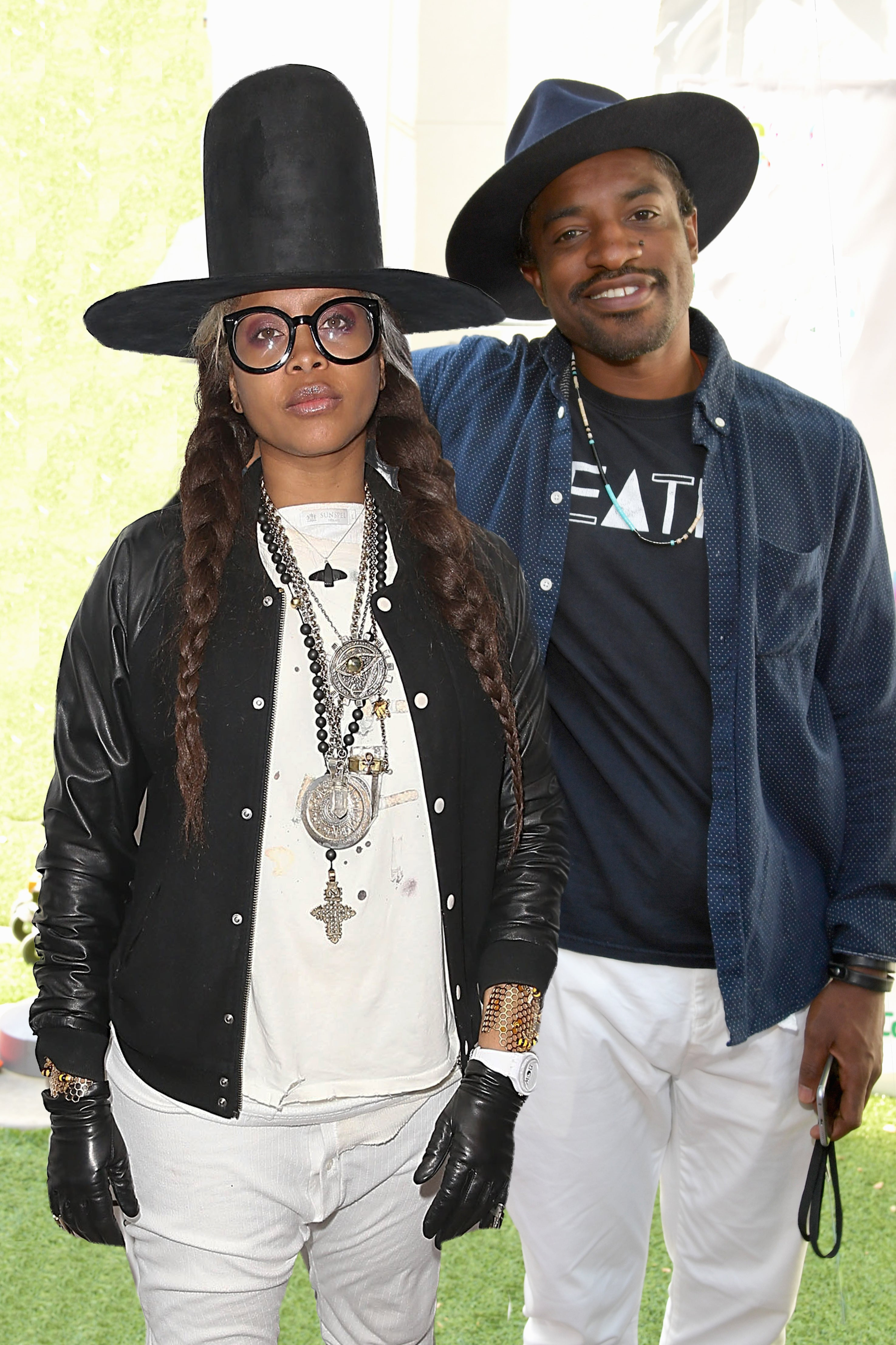 Erykah Badu and André 3000 Pose With Son Seven and Make Family Photo Magic