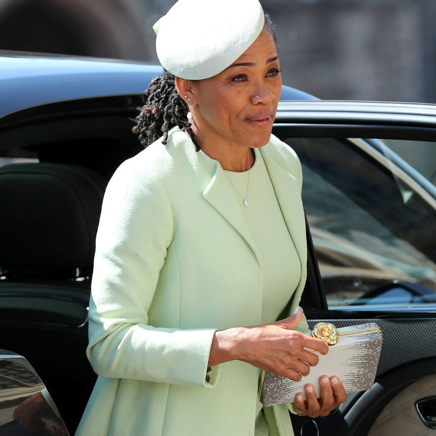 Meghan Markle's Mother Stunned With Her Nose Ring And Locs In A Twist Out At The Royal Wedding