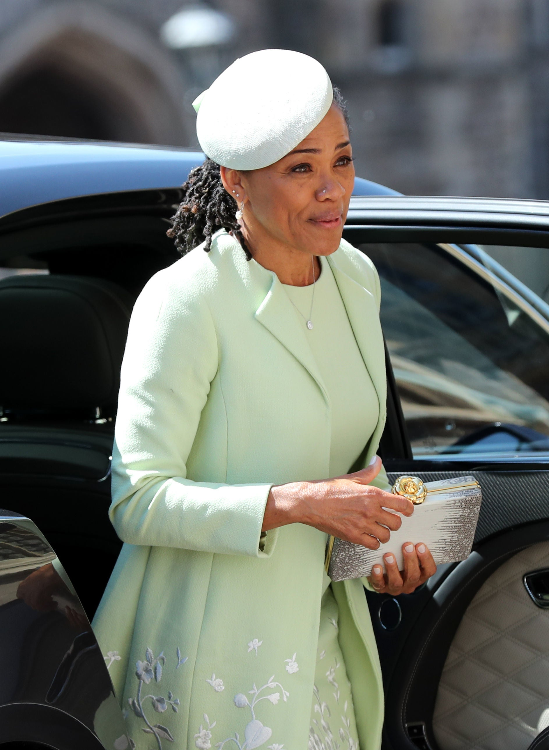 Meghan Markles Mother Doria Ragland Wore Nose Ring And Locs To The