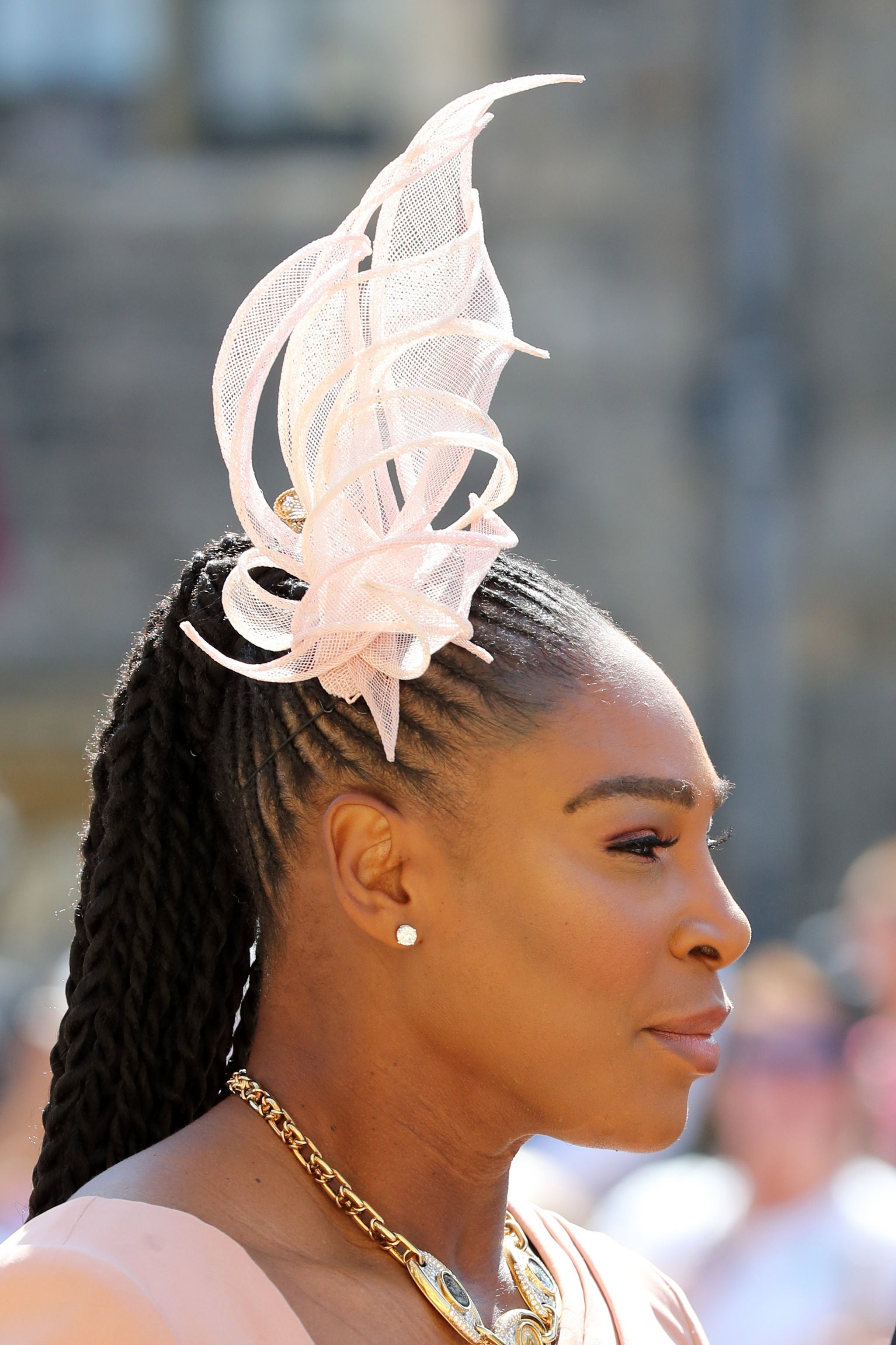 Serena Williams Slayed In Cornrows And Senegalese Twists For The Royal Wedding