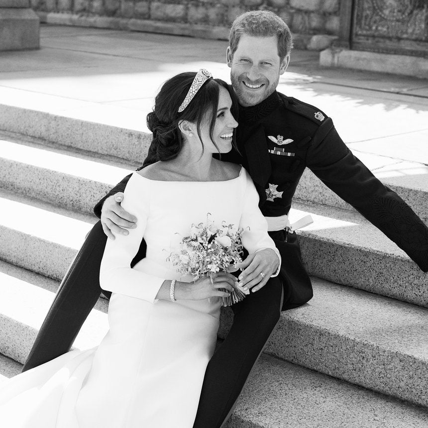 The story behind one of prince harry and meghan markles best wedding portraits is as sweet as the photo