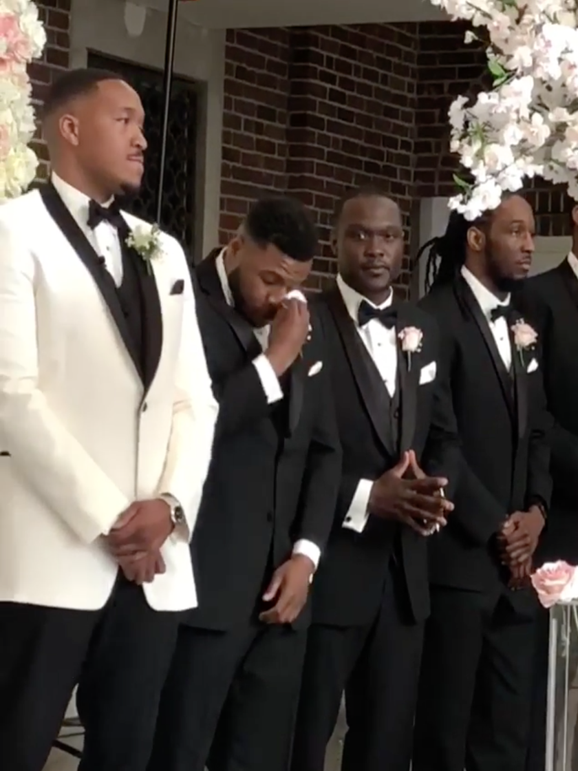 Black Wedding Moment Of The Day Best Man Cries As Brother Groom