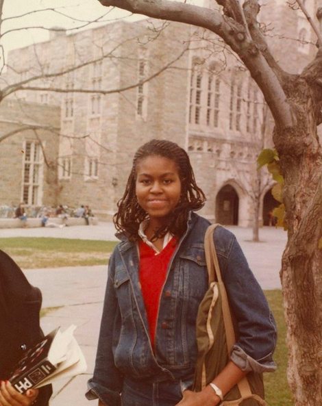 Michelle Obama Posts Rarely-Seen Photo Of Herself As A College Student At Princeton