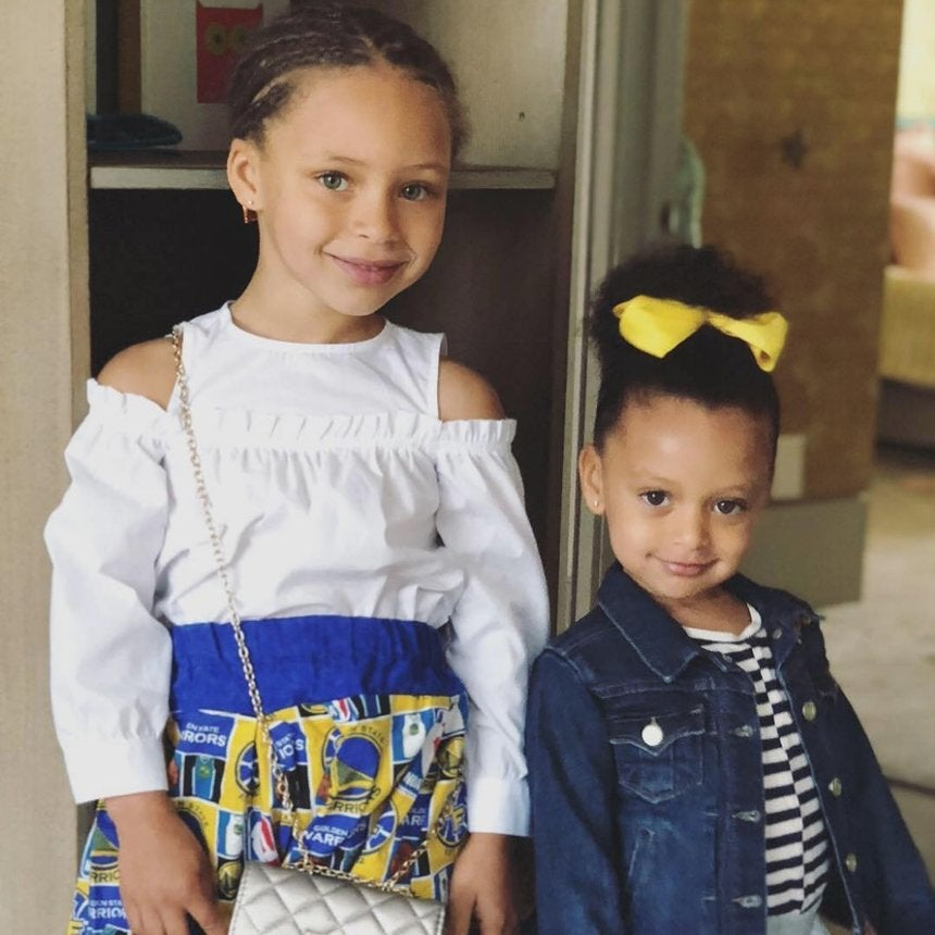 Steph Curry's Daughters Riley And Ryan Celebrated His NBA Finals Win In The Cutest Way Possible