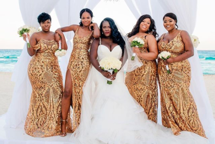 Black Wedding Moment Of The Day These Bridesmaids Are