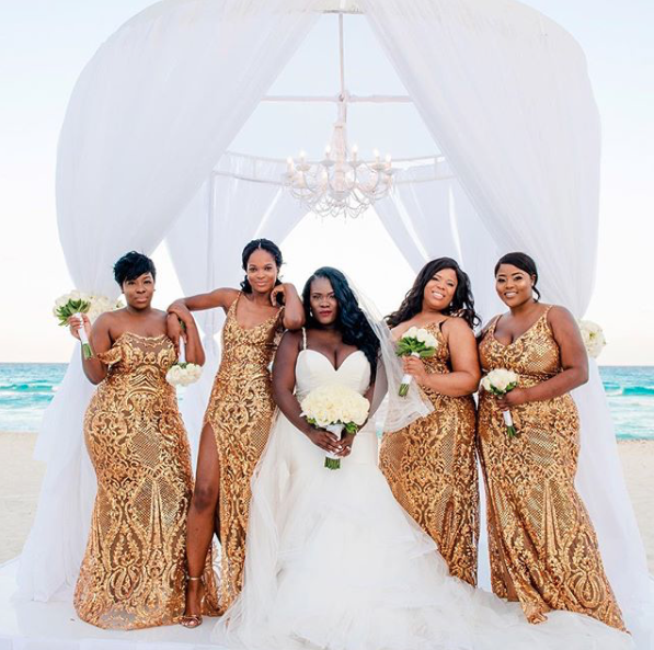 Black Wedding Moment Of The Day: These Bridesmaids Are Gold ...