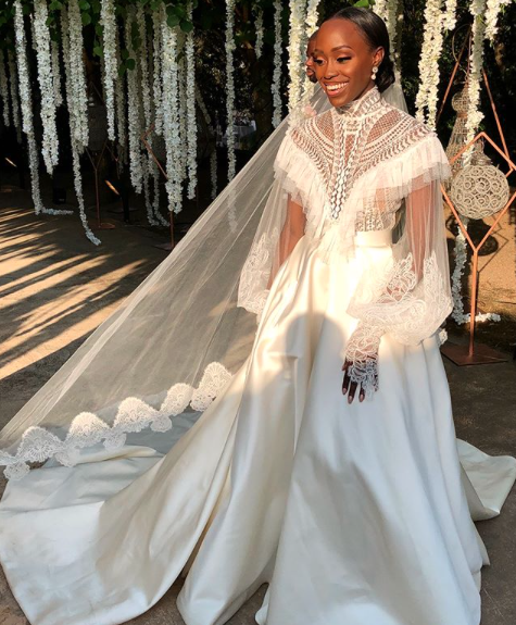 Black Wedding Moment Of The Day: This Bride's Victorian Style Gown Is A Supreme Slay