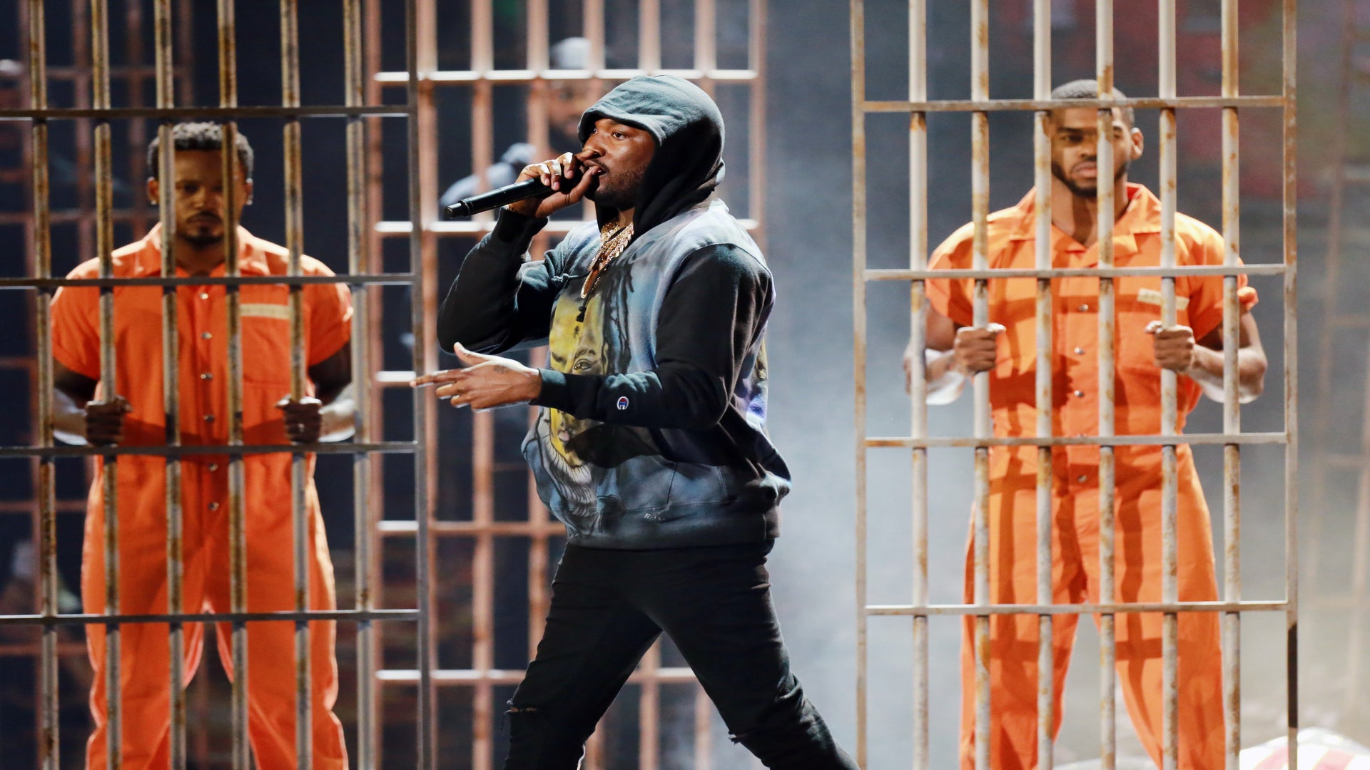 Meek Mill Addresses Racism, Gun Violence and Social Injustice With A Powerful Performance at The BET Awards