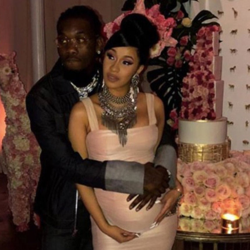 Cardi B Gives Offset A Lap Dance Onstage At Bet Awards: Cardi B And Offset Celebrate Pregnancy With Lavish Baby