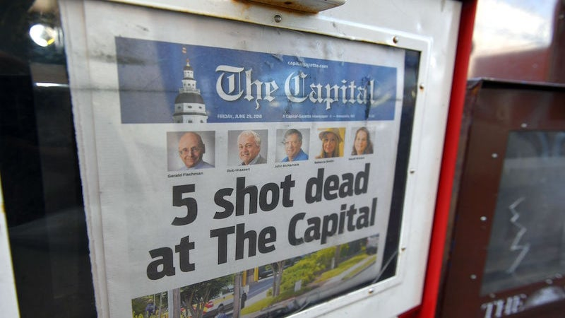The Quick Read: Five Journalists Dead in Attack At Maryland's Capital Gazette