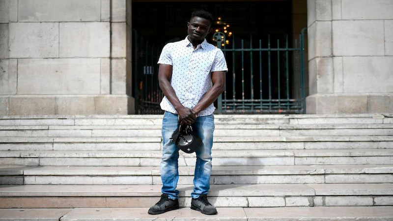 'Black Spiderman' Who Saved Child Dangling From Balcony Starts His First Day At Paris Fire Brigade