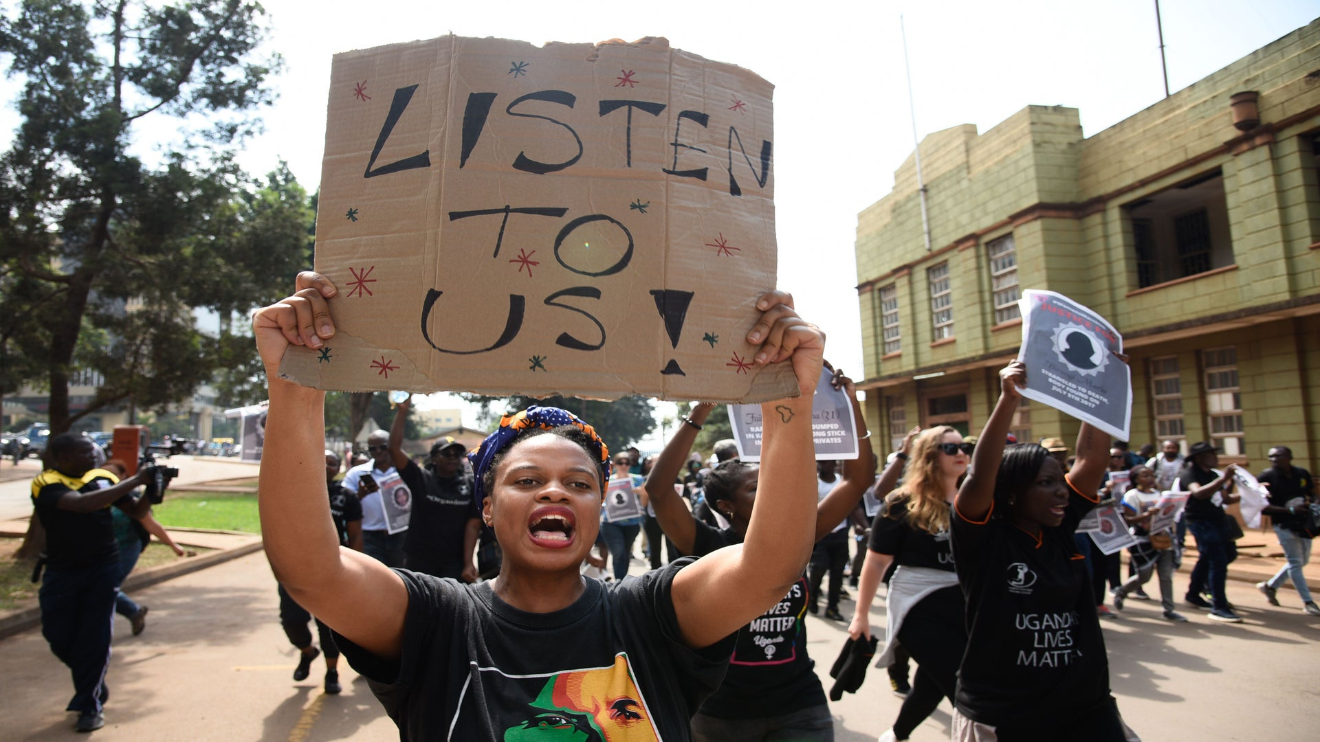 Ugandan Women Step Out to Protest Rising Violence Against Women