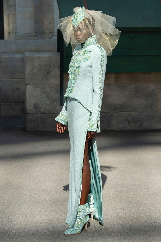Adut Akech Bior Becomes Second Black 'Bride' To Close Chanel's Haute Couture Show