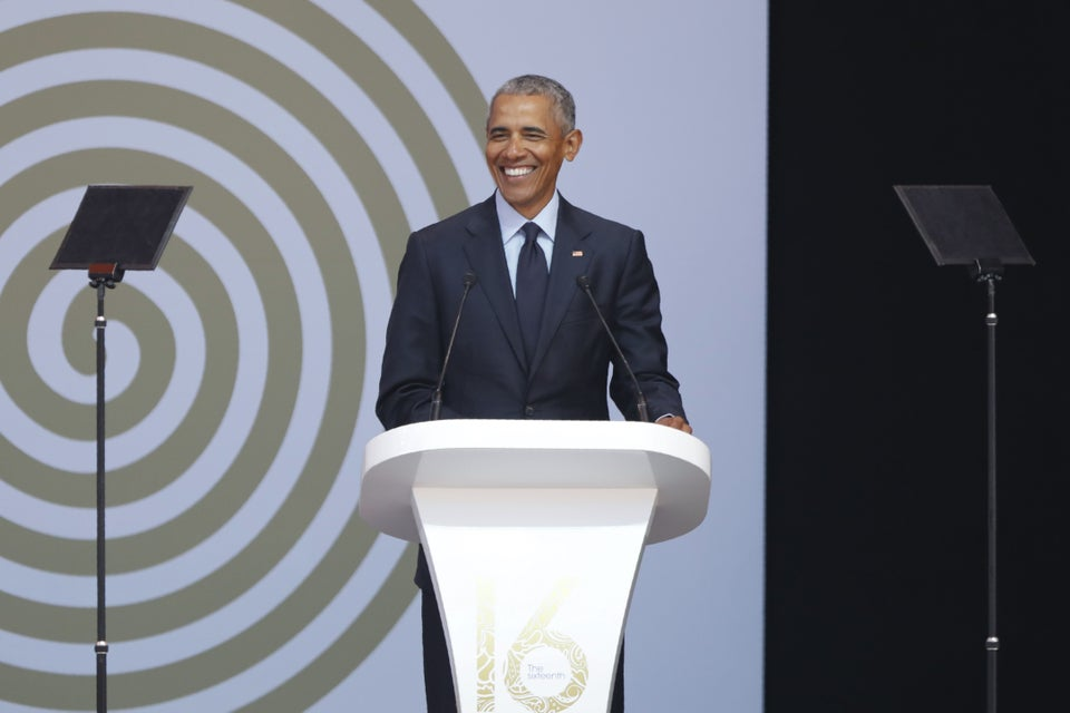 Barack Obama Delivers Powerful Call To Action At Annual Nelson Mandela Lecture