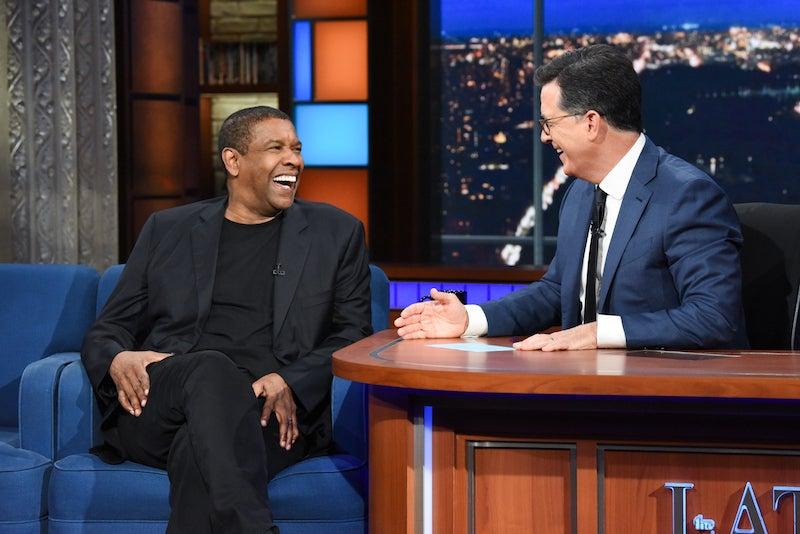 Denzel Washington Jokes That Chadwick Boseman Owes Him Money