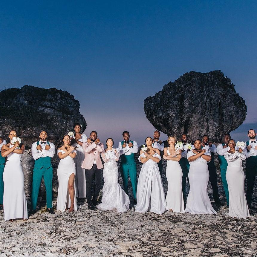 Bridal bliss ian and zemi stewart bahamas wedding essence bridal bliss ian and zemis island chic bahamas wedding will take your breath away junglespirit Image collections