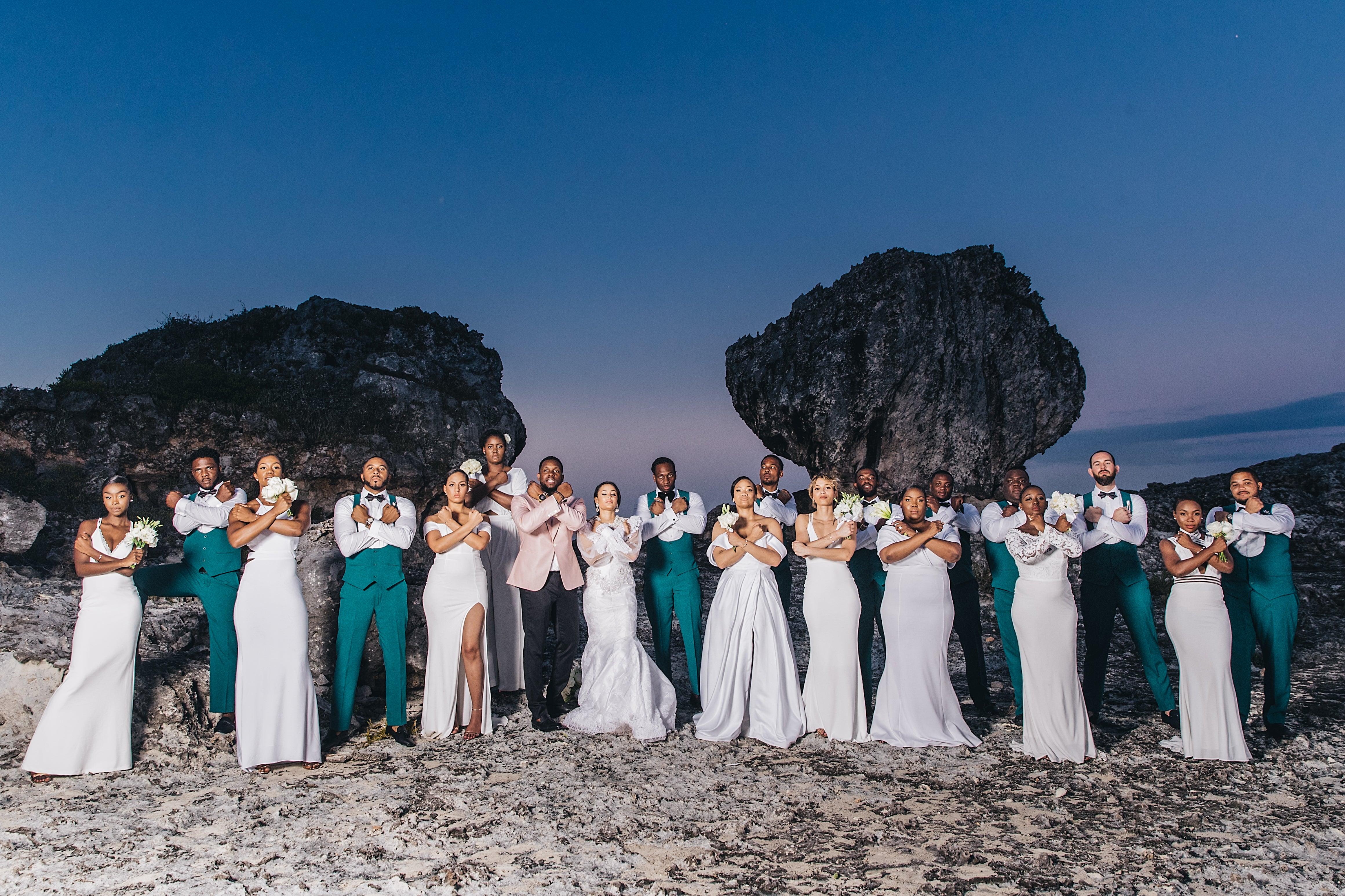 Bridal Bliss: Ian And Zemi's Island Chic Bahamas Wedding Will Take Your Breath Away