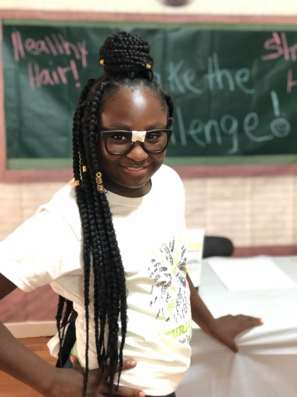 Black Girl Magic Alert! This Nine-Year-Old Has A New Challenge Encouraging Black Girls To Love Their Natural Hair