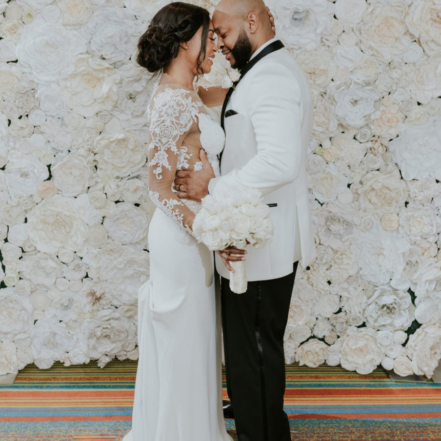 Bridal Bliss: Terrel And Jennifer's New Orleans Wedding Was White Hot!
