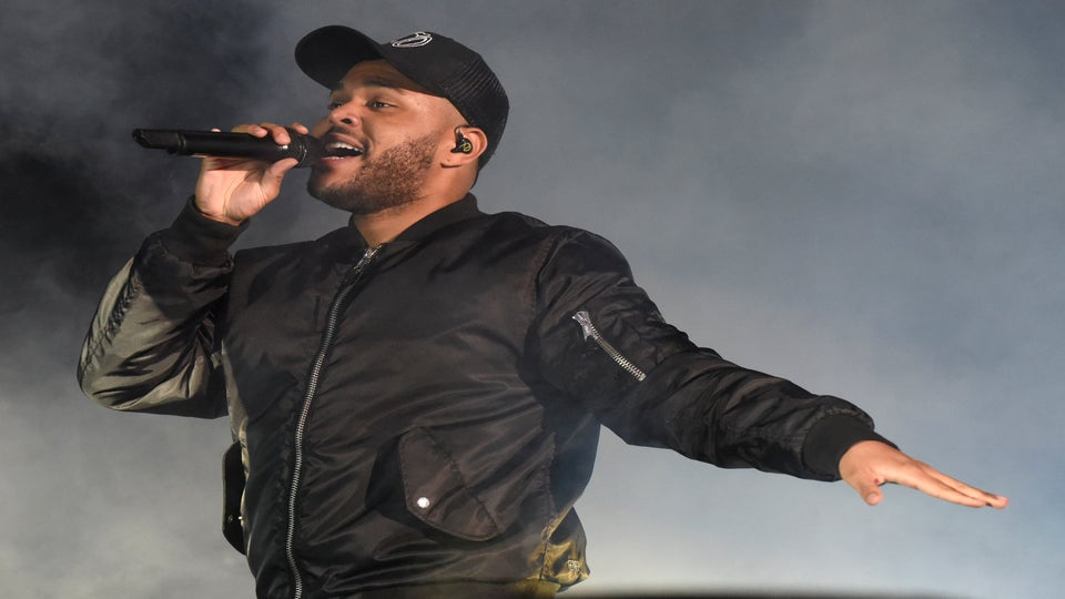 The Weeknd Barely Misses Being Hit By Stage Equipment