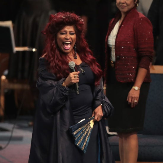 Celebrities Pay Their Final Respects To Aretha Franklin In Detroit