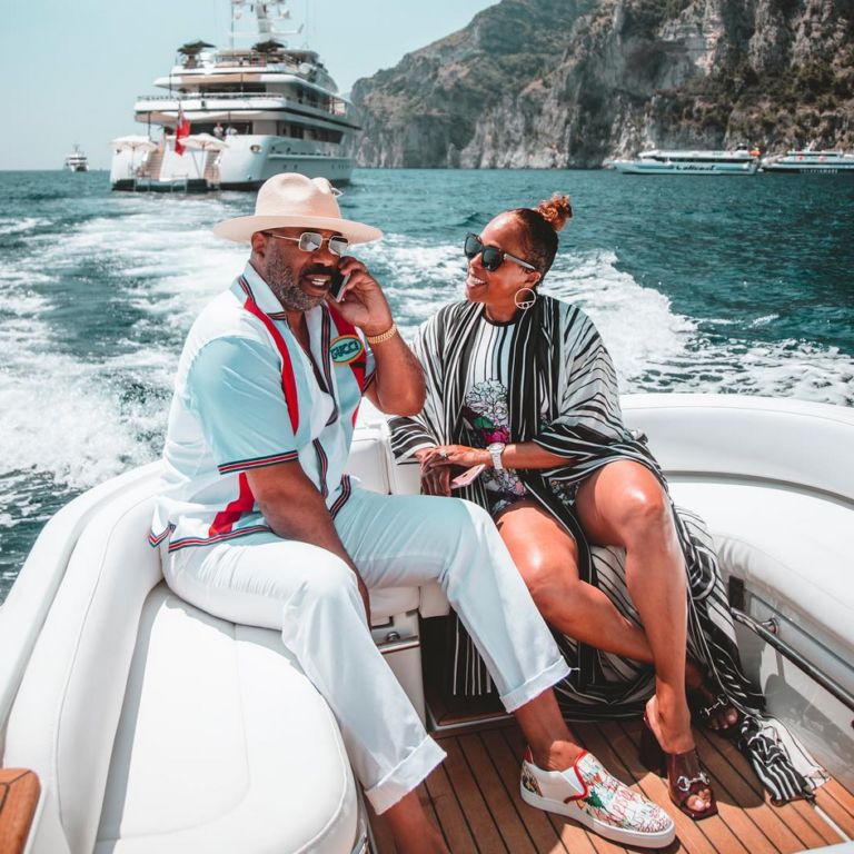 Our Favorite Steve and Marjorie Harvey Vacation Moments Through The Years