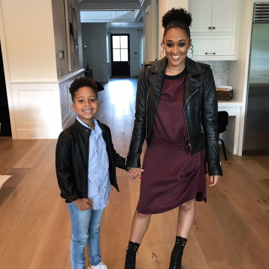 The Trick Tia Mowry-Hardrict Borrowed From Her Mom To Help Get Her Son In The Back-To-School Groove
