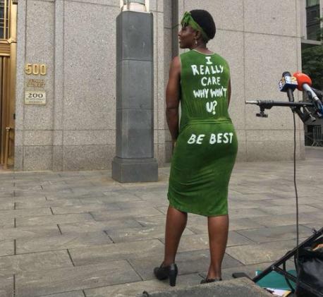 Black Woman Who Climbed Statue Of Liberty Trolls Melania Trump