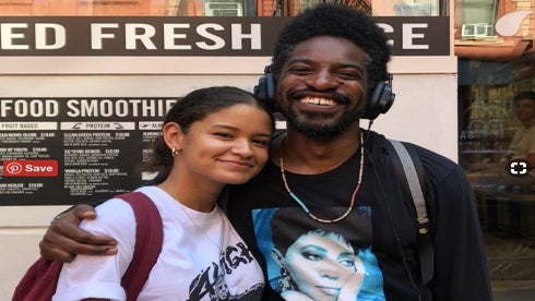 Andre 3000 Fan Meets Her Idol While Wearing A T-Shirt With His Face On It