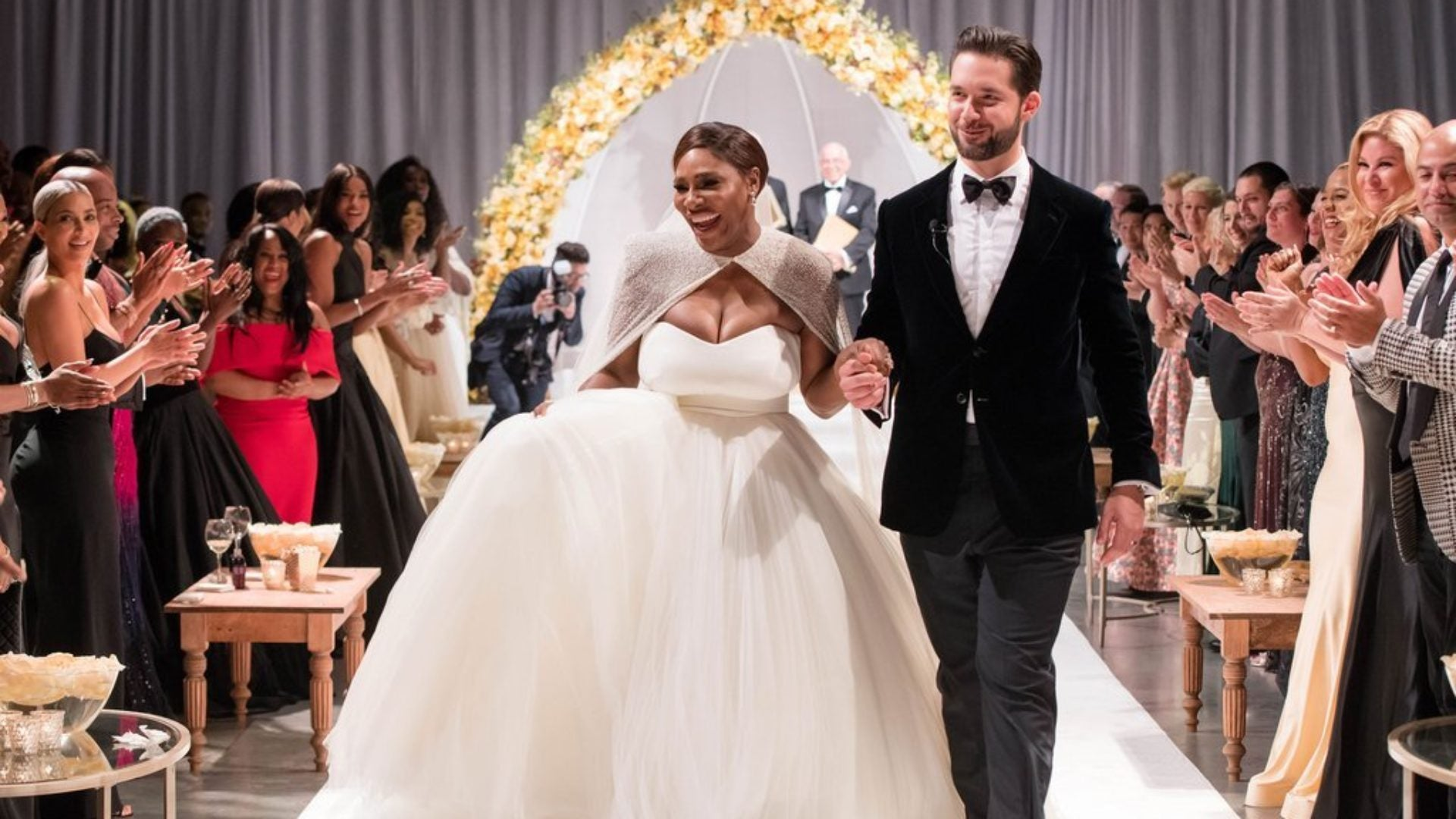 This Never-Before-Seen Photo Of Serena Williams and Husband Alexis Dancing At Their Wedding Will Make Your Day