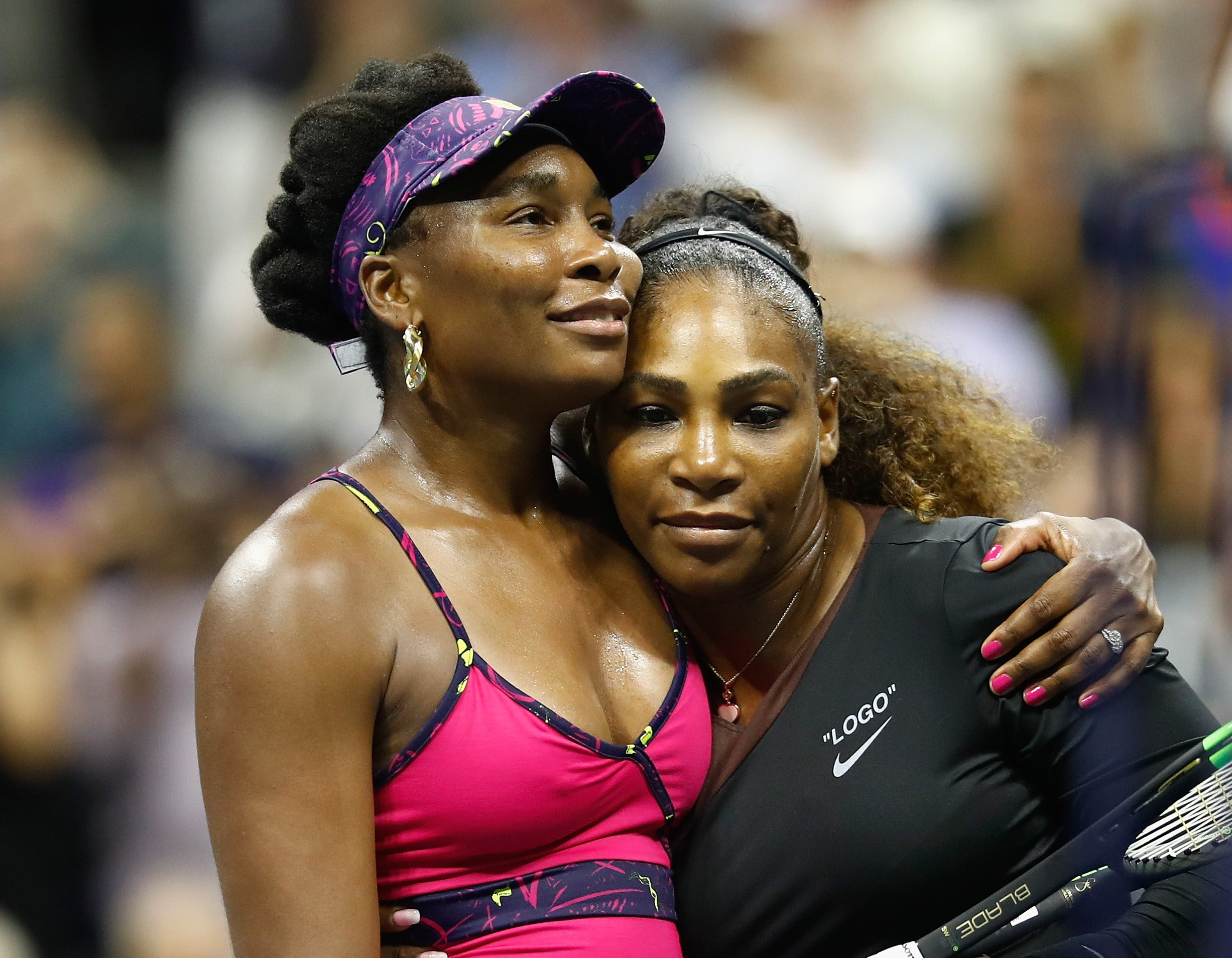 Serena Williams Clenches Victory In U.S. Open Match Against Big Sister Venus