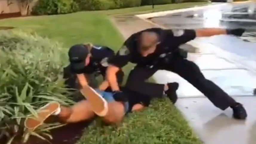 Black Teen Girl Caught on Camera Being Punched While Restrained By Florida Cops