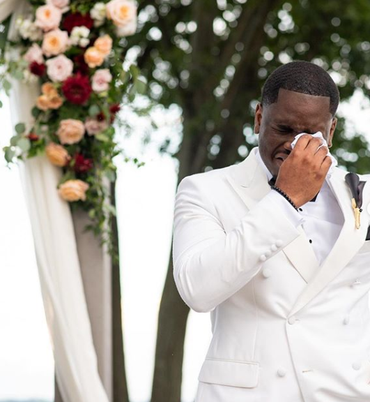 Black Wedding Moment Of The Day: We Can't Get Enough Of This Groom Happy Crying At The Altar