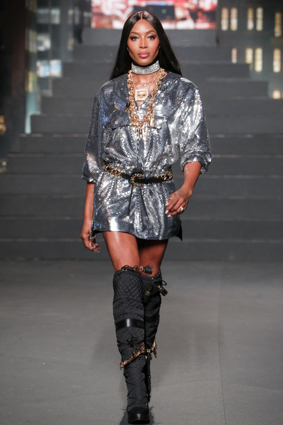 Naomi Campbell Shut Down The Runway With A Surprise Appearance At The Moschino x H&M Fashion Presentation