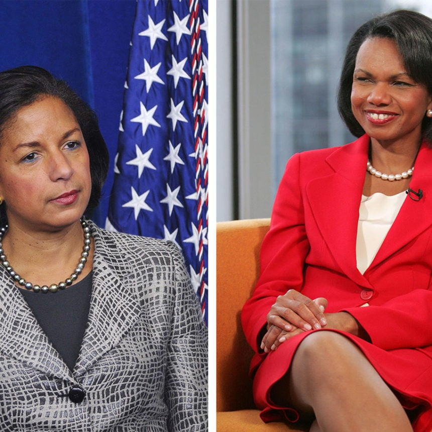 Hey, Just An FYI, Condoleezza Rice and Susan Rice Are Not The Same Person