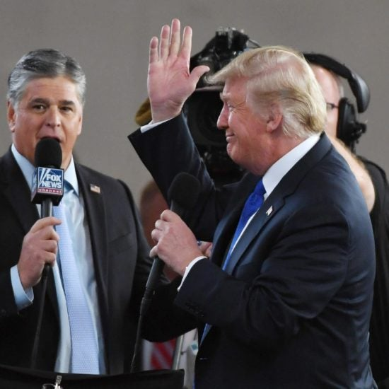 Fox News' Sean Hannity Said Was Covering Trump Rally For Live Show, And Then He Appeared On Stage