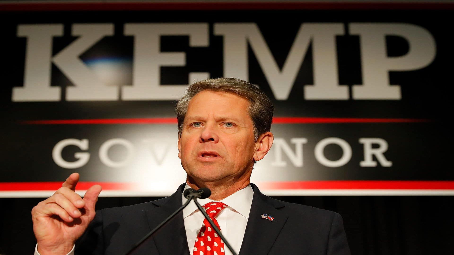 Brian Kemp Declares Victory In Georgia's Gubernatorial Race Against Stacey Abrams