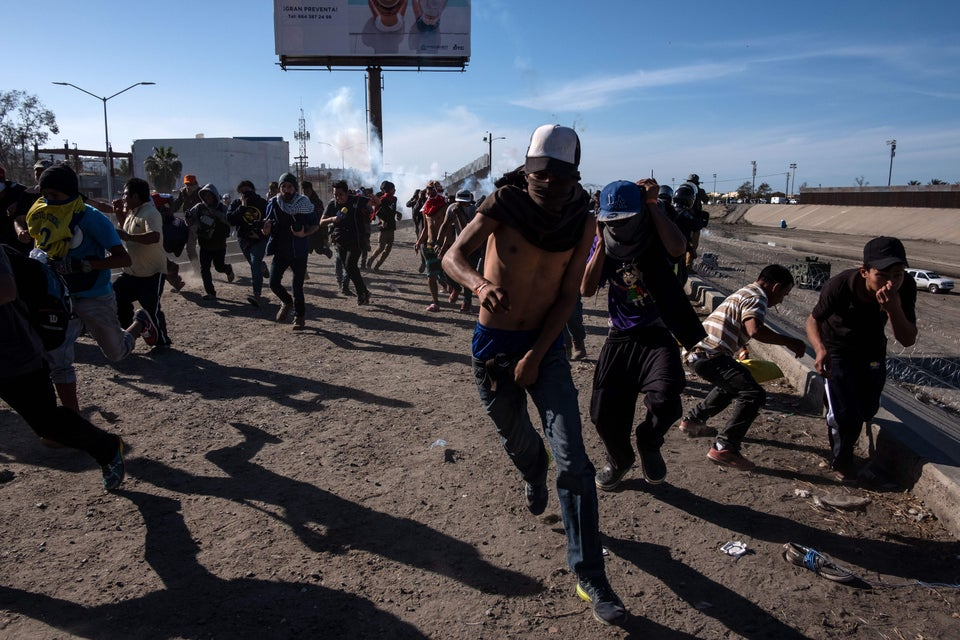 US Authorities Deploy Tear Gas At Migrants Near San Ysidro Port Of Entry
