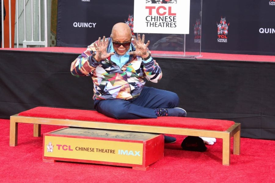 Quincy Jones Leaves His Mark At Famed TCL Chinese Theatre In ...