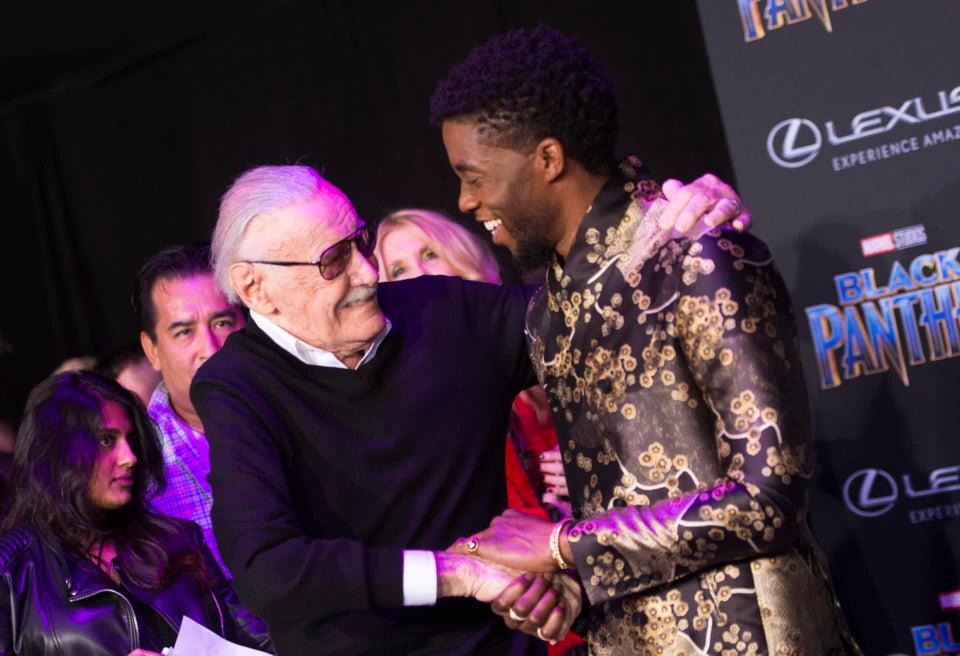 Chadwick Boseman Remembers The Late Stan Lee Off With Wakandan-Style Salute