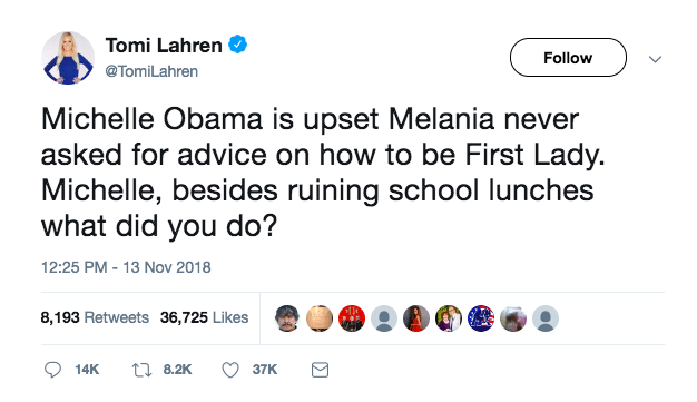 Tomi Lahren Launches Another Pathetic Attempt At Attacking Michelle Obama