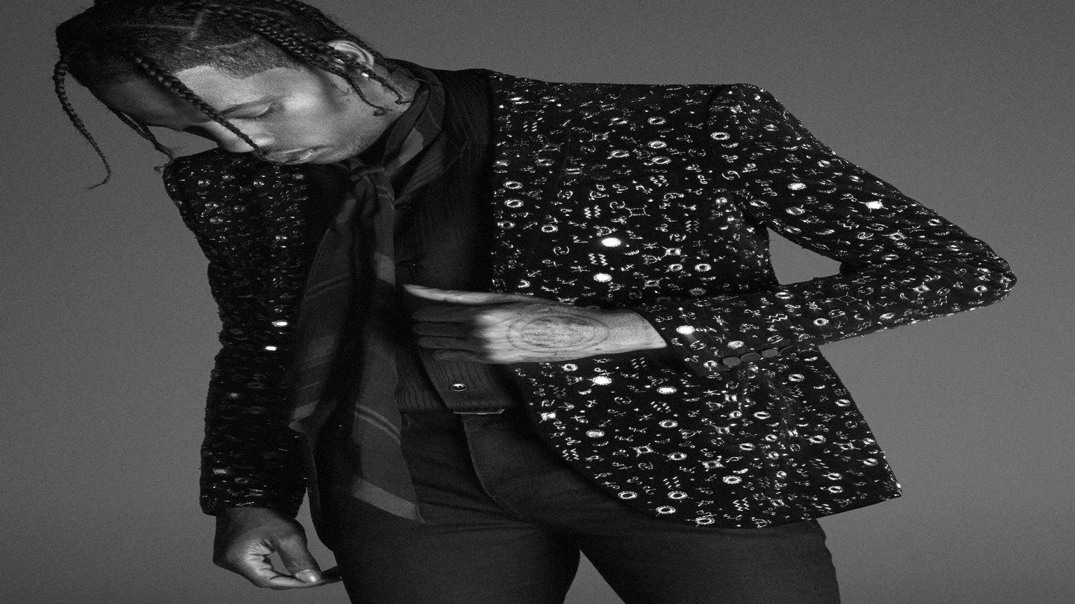 Travis Scott Reprises His Role As A Male Model In New YSL Campaign