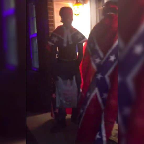 Trick-or-Treaters In Blackface And Confederate Flag Capes Enrage Family