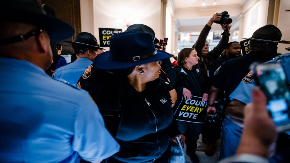 Protestors Arrested In Georgia For Demanding Every Midterm Vote Be Counted