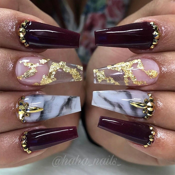 Shine Bright With These Glamorous Holiday Nail Designs