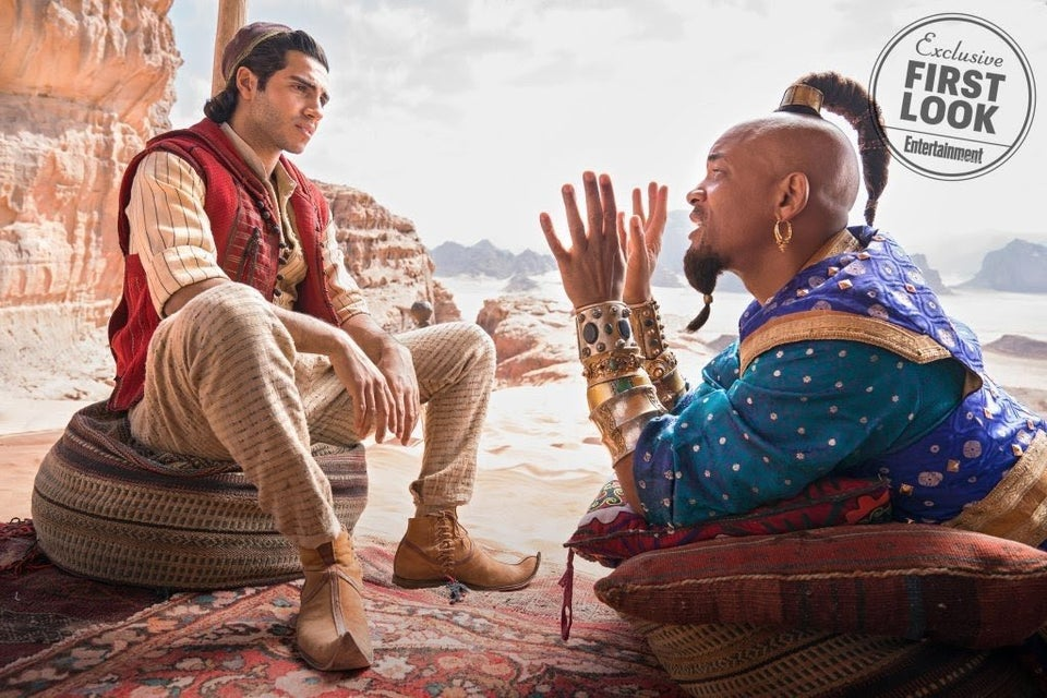 Feeling Blue! Fans React To Will Smith As The Genie In 'Aladdin' Remake
